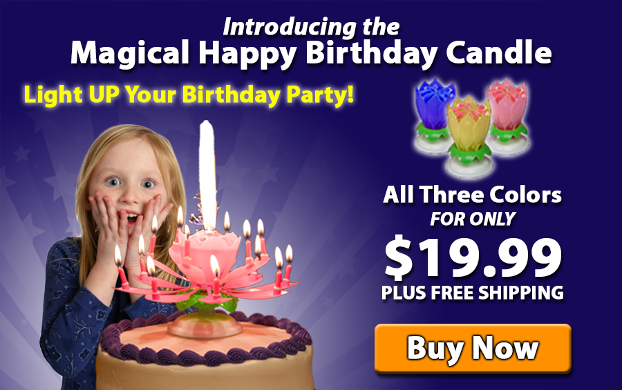 Watch The Happy Birthday Candle In Action